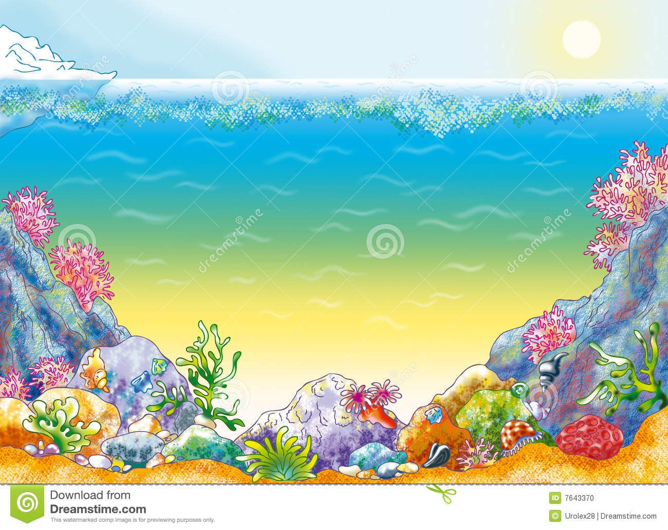 Clipart ocean floor clip art royalty free stock Ocean Floor Clip Art | Ocean Floor Clipart Ocean background with ... clip art royalty free stock