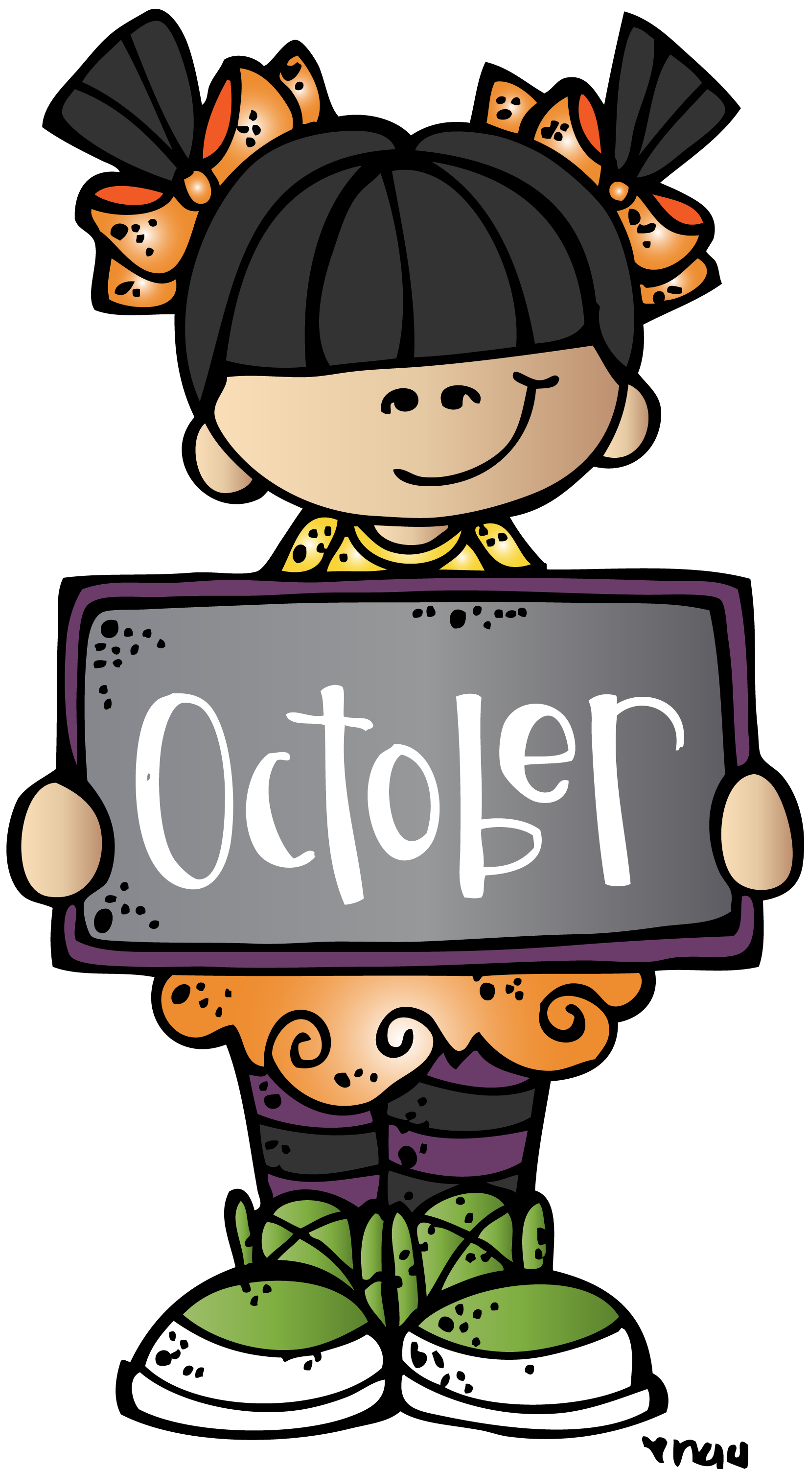 Clipart october calendar picture library library October mkb (c) Melonheadz Illustrating LLC 2014 colored.png (1651 ... picture library library