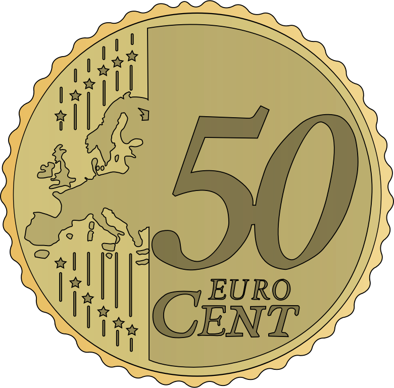 Clipart of 50 real money image freeuse download Clipart - 50 euro cent image freeuse download