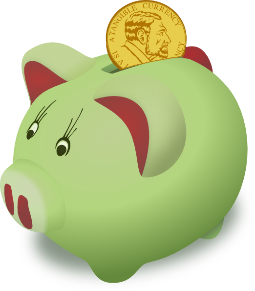 Clipart of a piggy bank. Clip art at clker