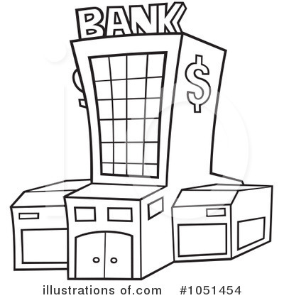 Clipart of a bank
