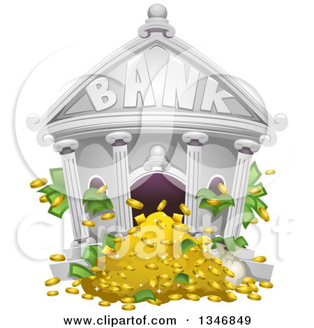 Clipart of a bank. Royalty free rf illustrations