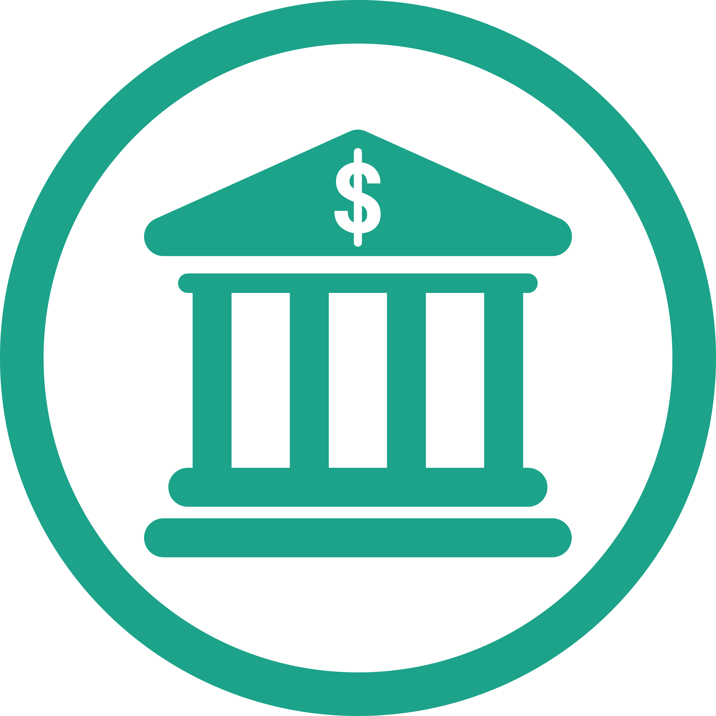 Collection free banking branch. Clipart of a bank