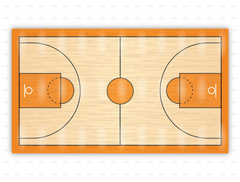 Clipart of a basketball court svg transparent library The Basketball Court Thinglink ~ Clipgoo svg transparent library