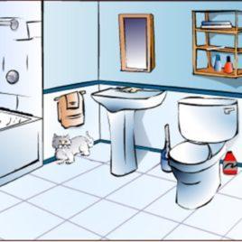 Clipart of a bathroom jpg royalty free Clipart of a bathroom 1 » Clipart Portal jpg royalty free