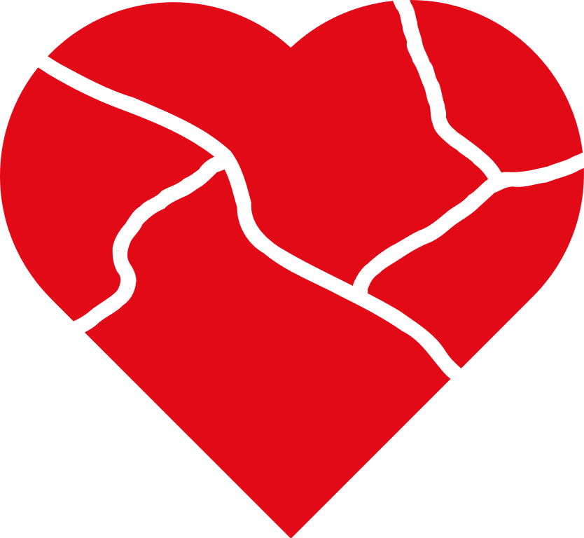 Clipart of a beating heart clip royalty free Clipart heart broken - Clipart Collection   Broken heart silhouette ... clip royalty free