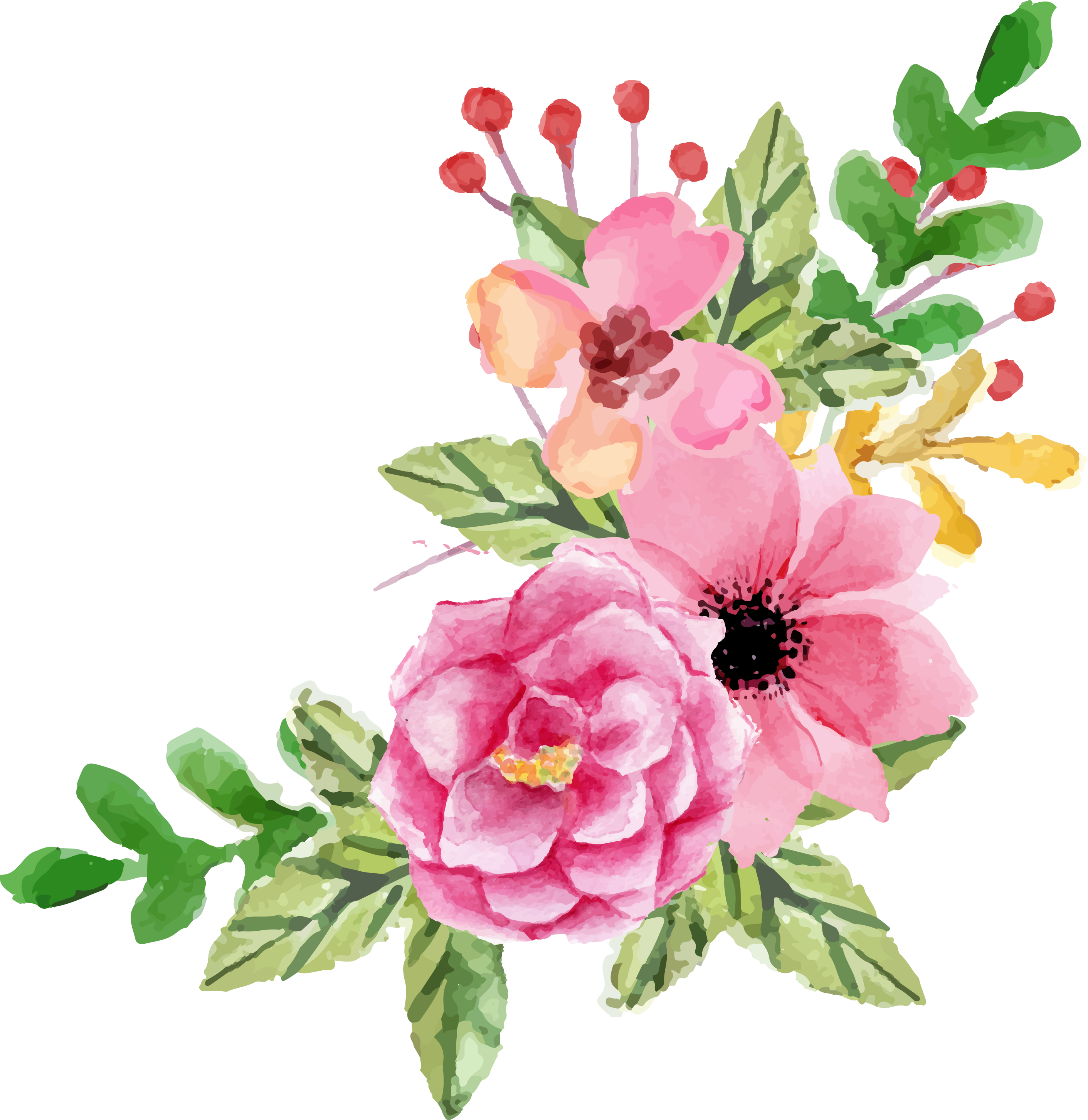 Flower clipart boho image download valentines-day-flower-elements-FPTFY-11.png (PNG Image, 2823 × 2905 ... image download
