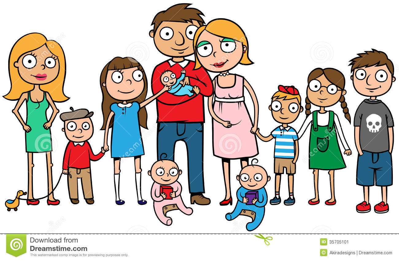 Clipart of a big family clip black and white 86+ Big Family Clipart | ClipartLook clip black and white