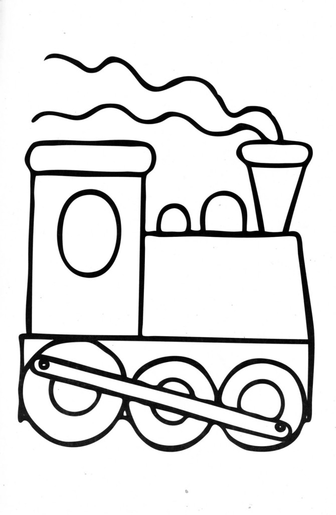 Clipart of a black train for preschoolers