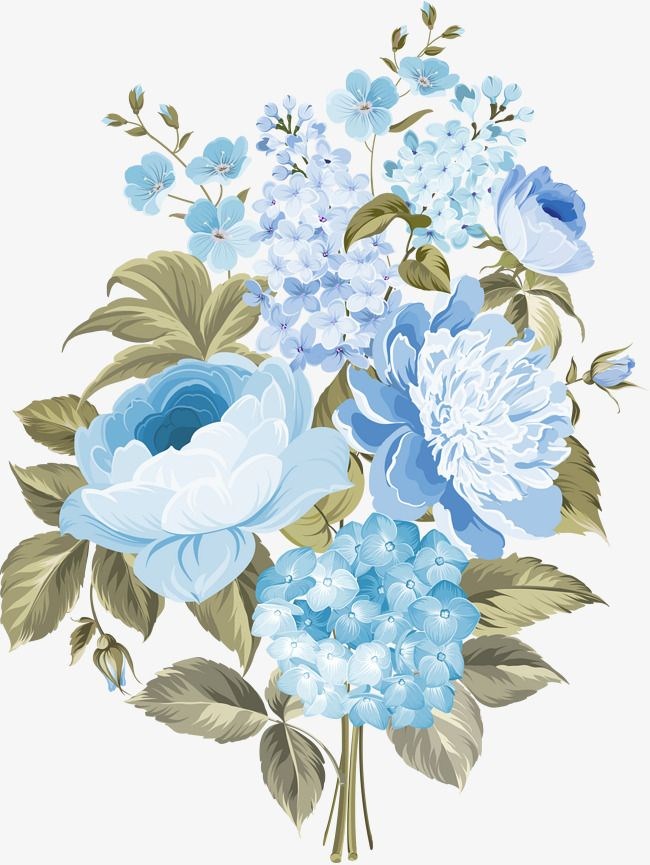 Clipart of a blue flower to print for free banner free download Flowers In Blue Flowers, Blue, Flowers In Clusters, Flower PNG ... banner free download