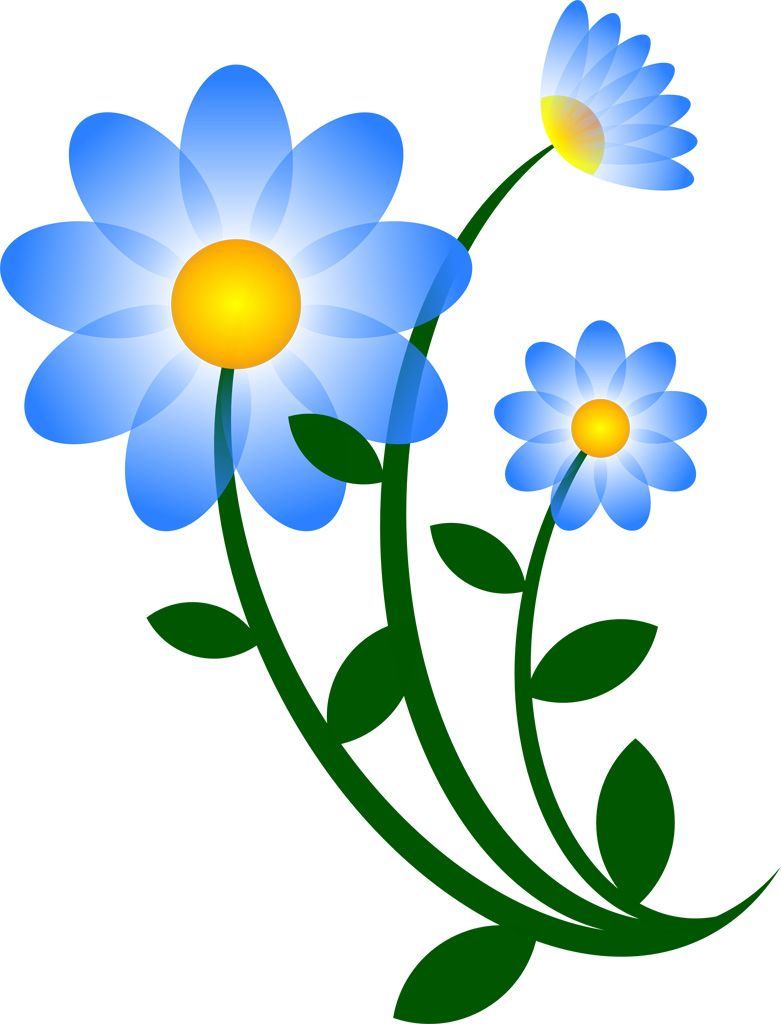 Clipart of a blue flower to print for free picture black and white stock Pin by Helena Jansson on ILLUSTRATIONER + ART | Flower clipart, Blue ... picture black and white stock