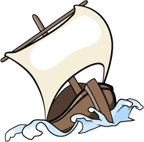 Clipart of a boat in a storm vector transparent stock Jonah Clip Art | VBS Decorations | Art, Clip art, Clipart images vector transparent stock