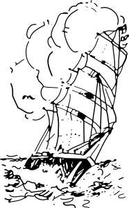 Clipart of a boat in a storm image royalty free download old time sailing ship clip art | Sailing Ship Clip Art at Clker.com ... image royalty free download