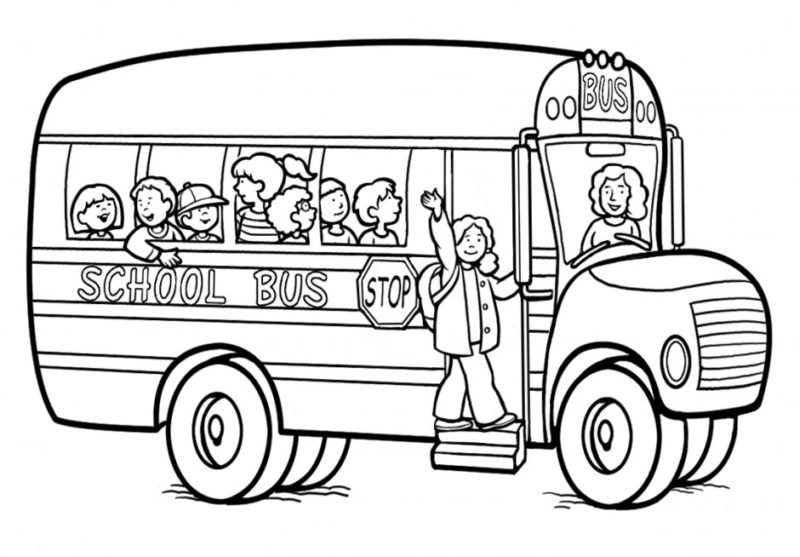 Clipart of a bus black and white png free download School bus clipart black and white 6 » Clipart Station png free download