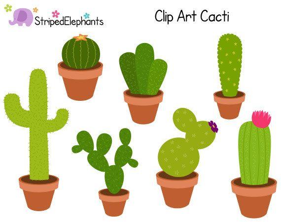 Clipart of a cactua graphic black and white Cacti Clip Art, Cactus Clipart, Succulent Clip Art, Cute Clipart ... graphic black and white