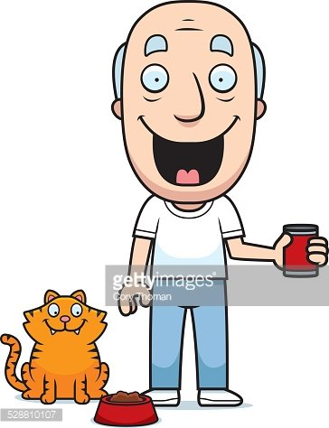Clipart of a cat and person playing