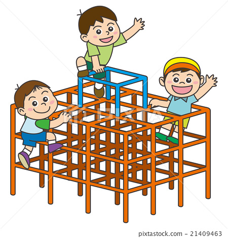 Clipart of a child on jungle gym clipart library stock Jungle gym - Stock Illustration [21409463] - PIXTA clipart library stock