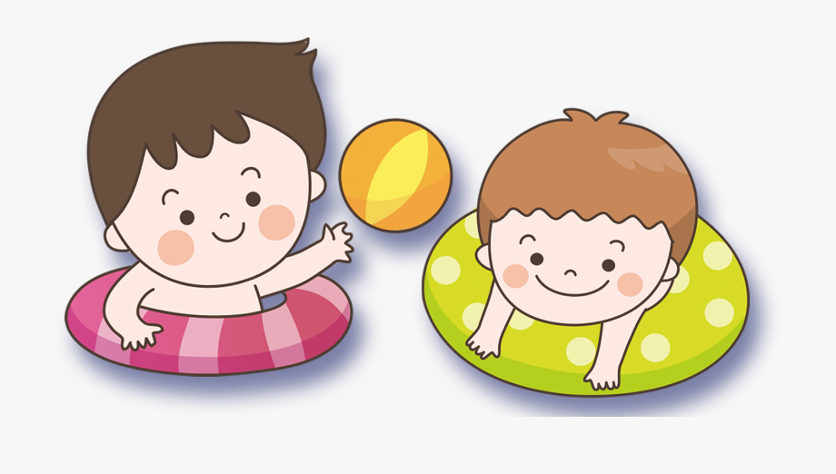 Clipart of a child wearing a swimsuit black and white royalty free Child Swimming Clipart - Child Swimming Png Cartoon #139809 - Free ... royalty free