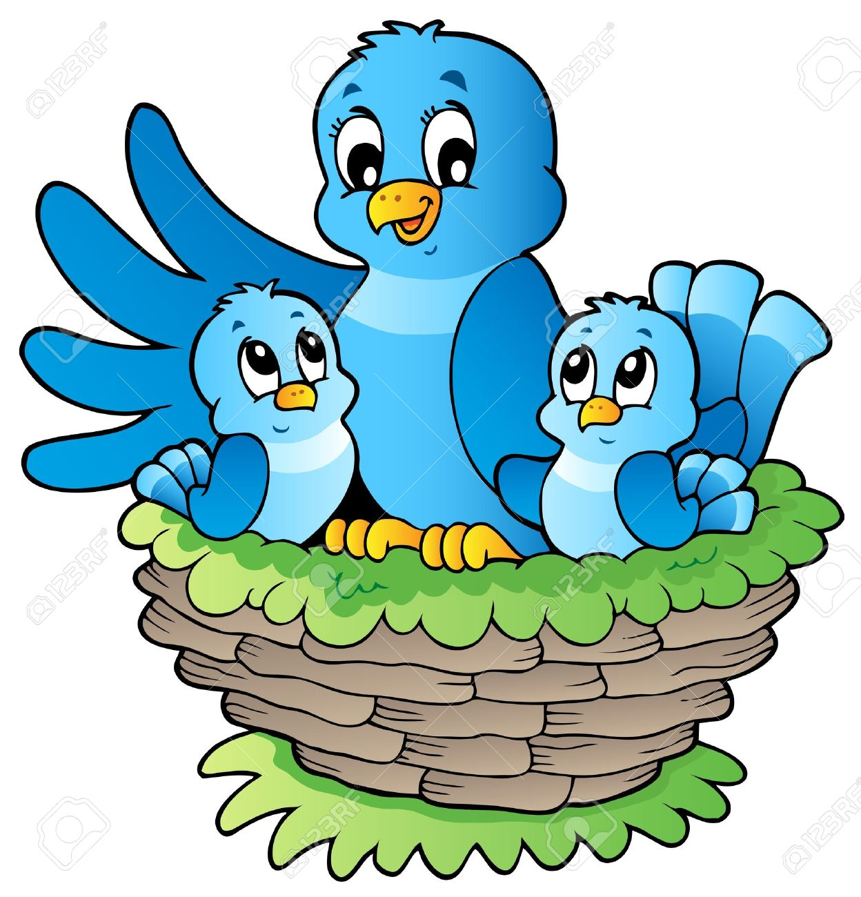 Clipart of a church with happy birds clip freeuse stock Nest Clipart Images | Free download best Nest Clipart Images on ... clip freeuse stock