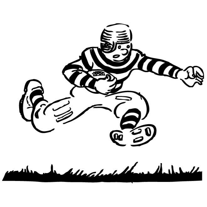 Clipart of a coach grabbing a football player clip library FOOTBALL PLAYER CARICATURE - Free vector image in AI and EPS format. clip library