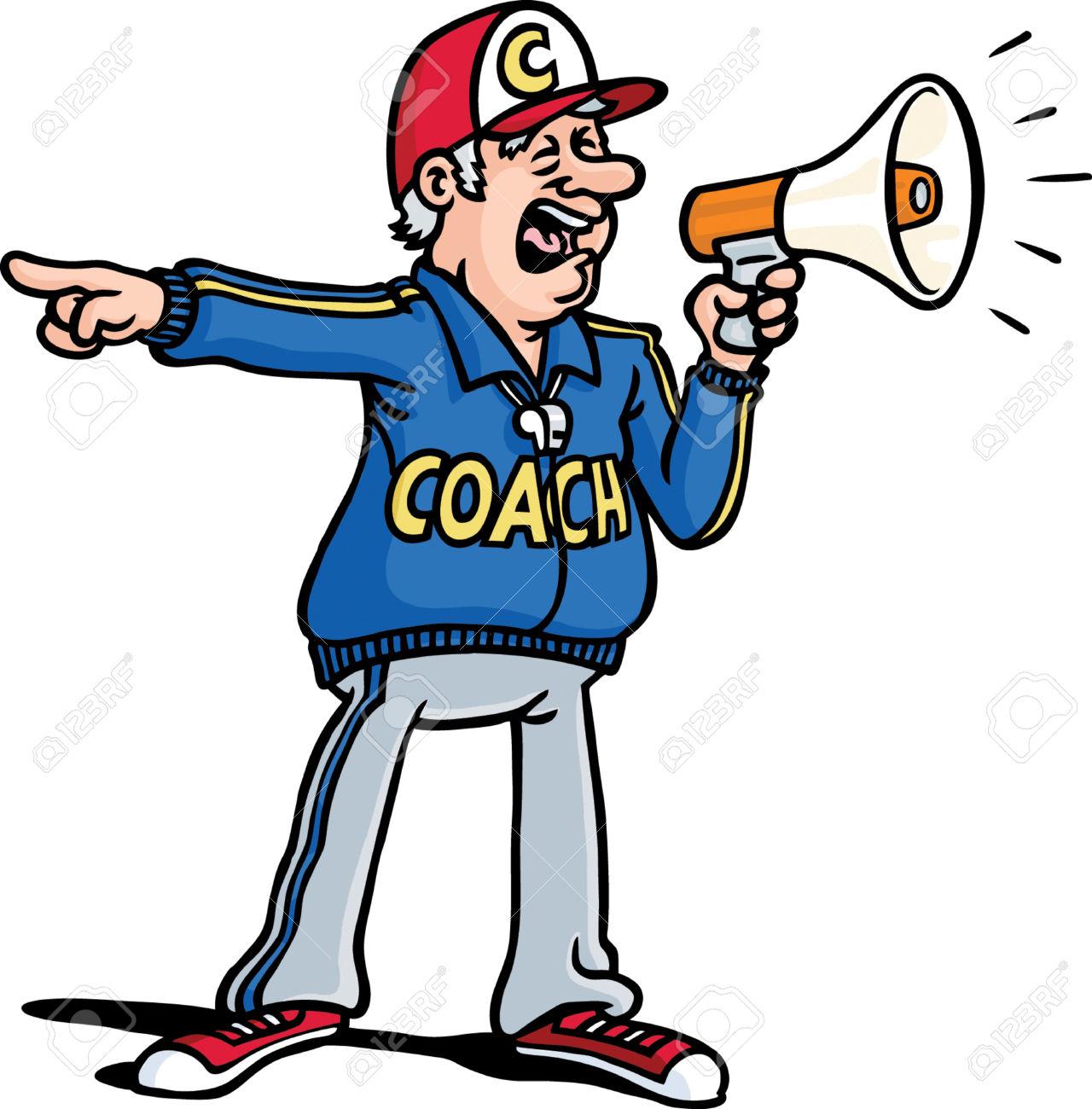 Clipart of a coach grabbing a football player clip royalty free library coach | Bondo- the real deal clip royalty free library