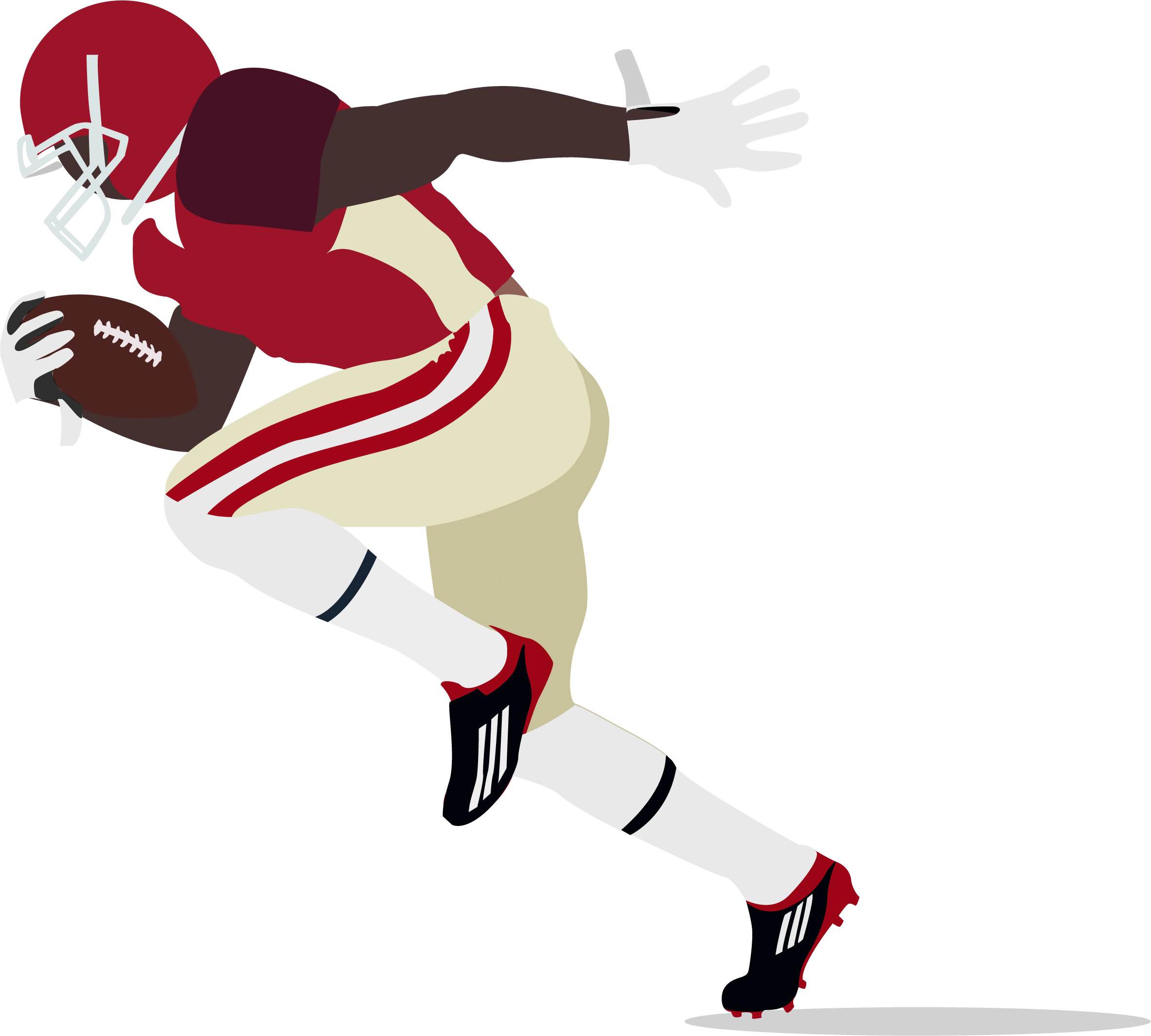 Clipart of a coach grabbing a football player