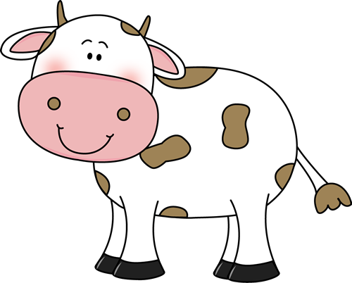 Clipart of a cow in bikini vector library download cow clip art | Cow with Brown Spots Clip Art Image - cute white cow ... vector library download