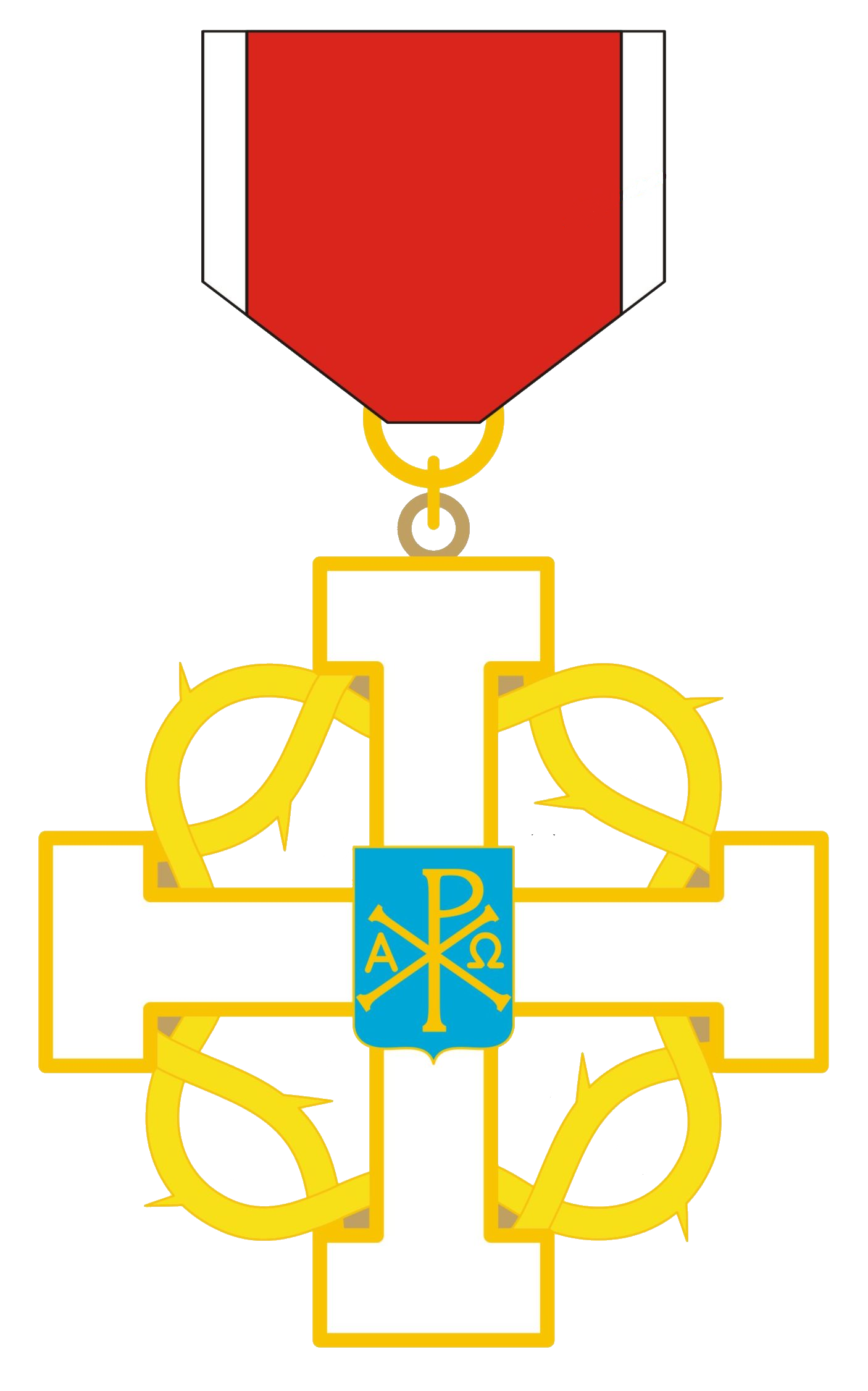Clipart of a cross with a crown of thorns wrapped around it graphic library library Insignia   The Abbey-Principality of San Luigi graphic library library