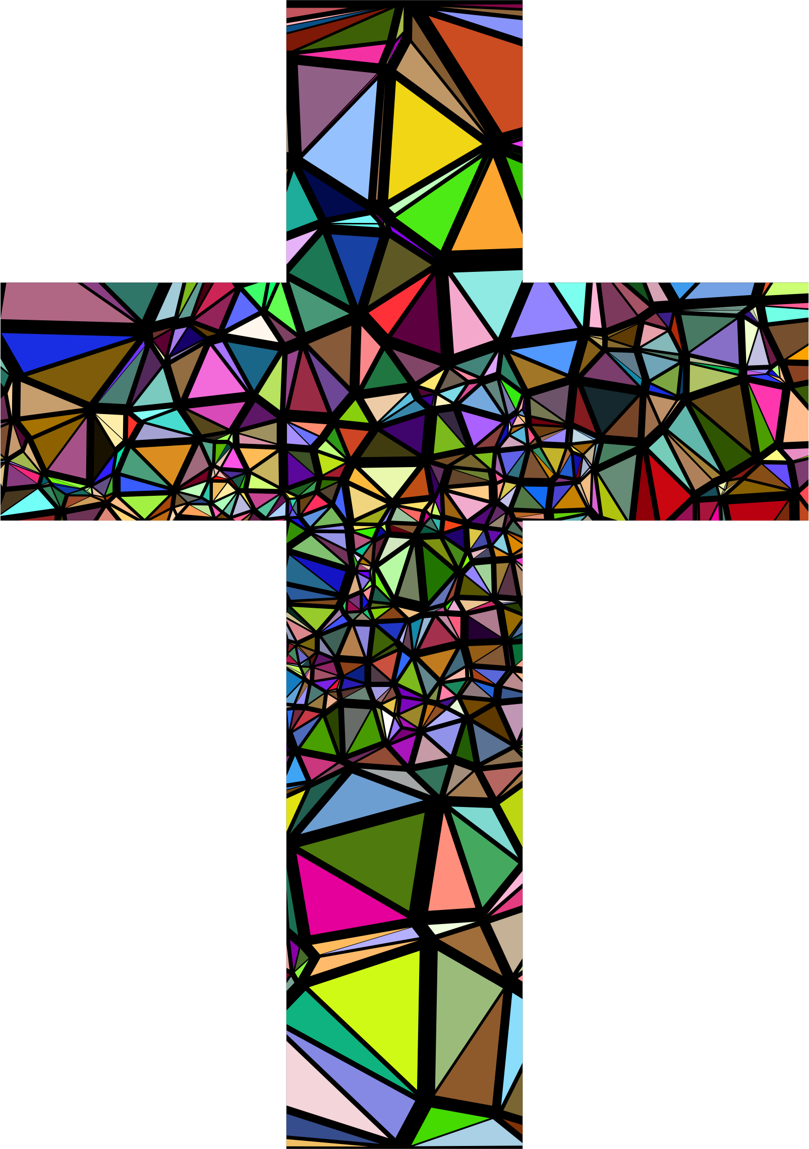 Stained glass cross clipart clip royalty free library Low Poly Stained Glass Cross With Background Icons PNG - Free PNG ... clip royalty free library