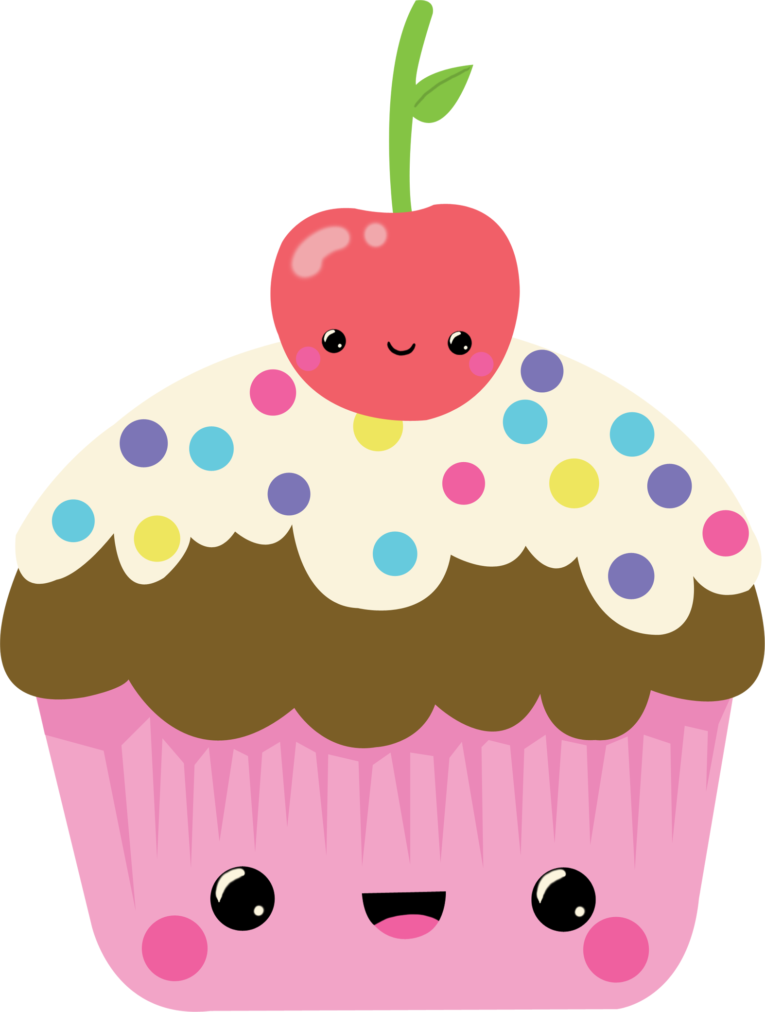 Clipart of a cupcake with a face graphic black and white library Face clipart cupcake, Face cupcake Transparent FREE for download on ... graphic black and white library