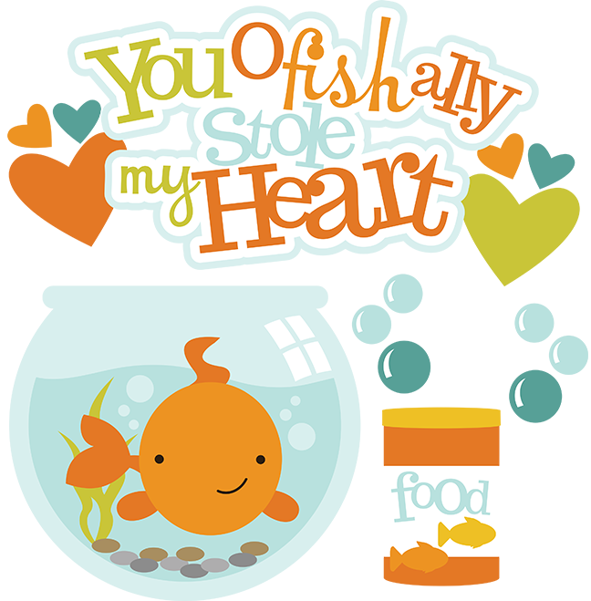 Cute fish clipart png picture black and white library You Ofishally Stole My Heart SVG fish clipart fish bowl clipart free ... picture black and white library