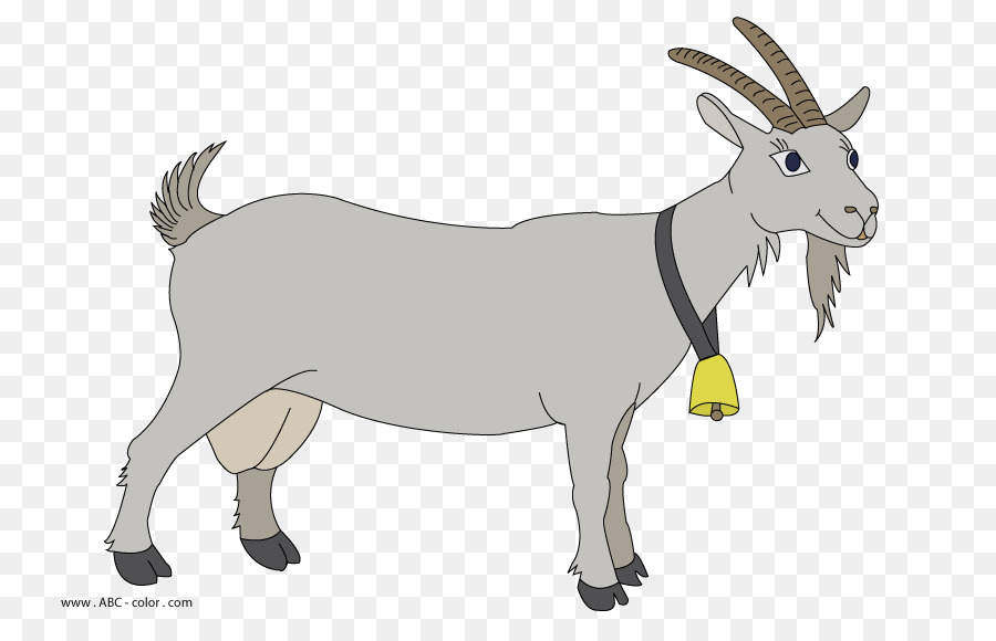Clipart of a donkey and a sheep