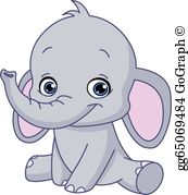Sitting elephant clipart jpg royalty free library Elephant Clip Art - Royalty Free - GoGraph jpg royalty free library