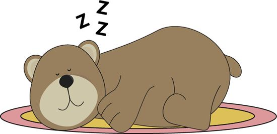 Winter sleep clipart