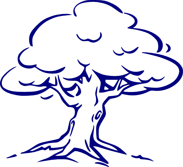 Family reunion tree with roots clipart clip art black and white library Family Tree Blue Clip Art at Clker.com - vector clip art online ... clip art black and white library