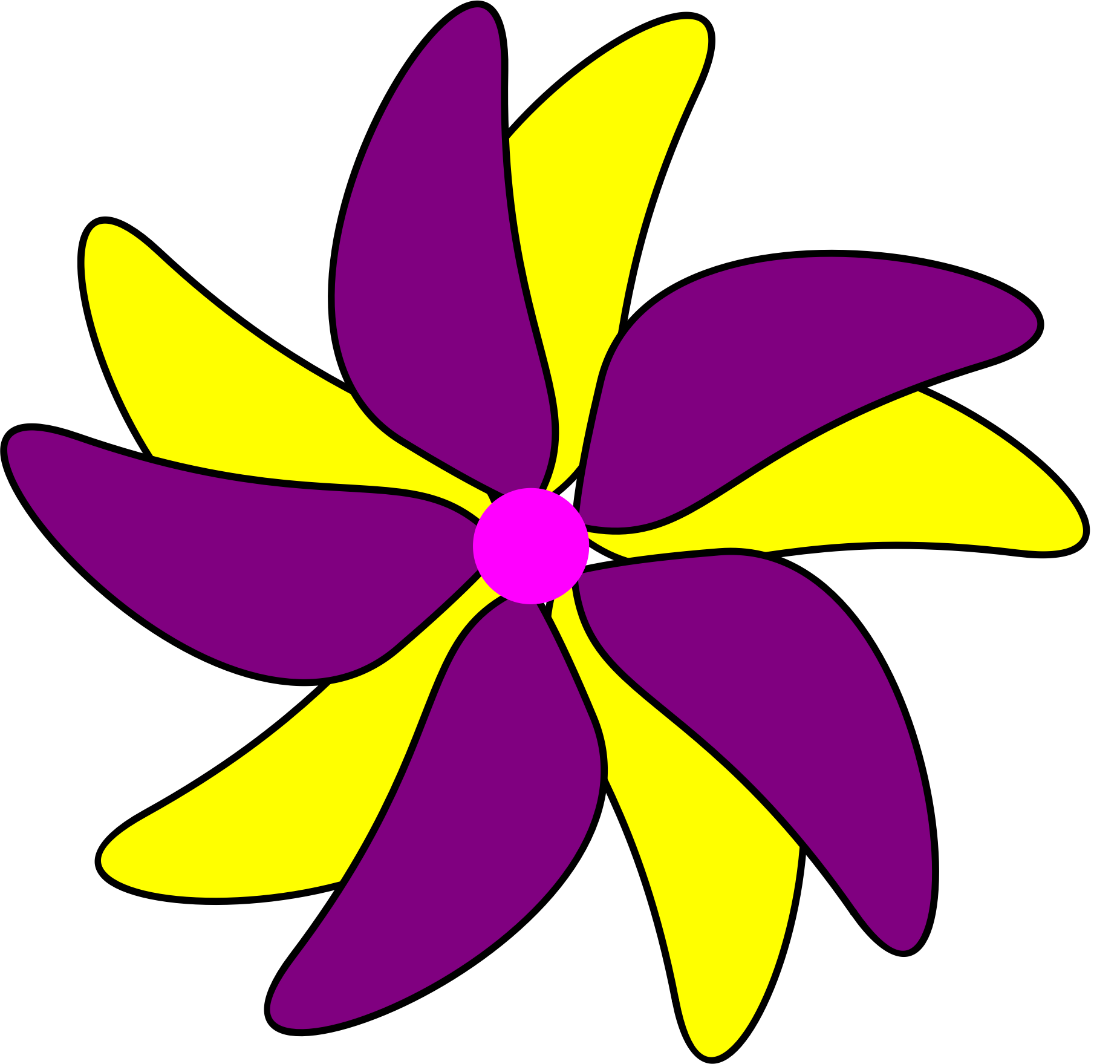 Clipart of a flower clip freeuse Clipart - Flower - Purple and Yellow clip freeuse