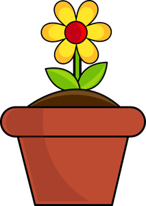 Clipart of a flower pot picture freeuse Flowerpot Clipart | Free download best Flowerpot Clipart on ... picture freeuse