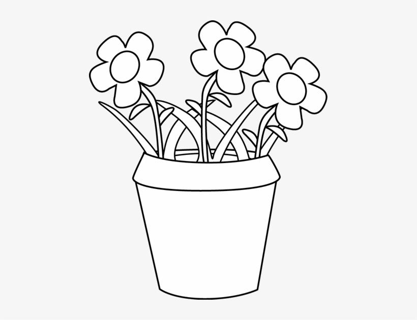 Clipart of a flower pot banner download Svg Black And White Clipart Flower Pot - Flowers Pot Clipart Black ... banner download