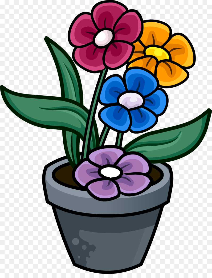 Clipart of a flower pot graphic free library Flowers Clipart Background png download - 1690*2183 - Free ... graphic free library