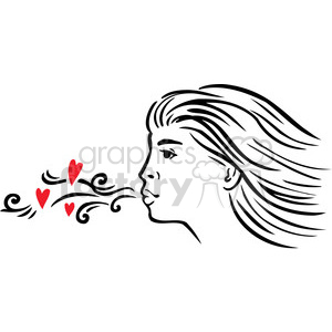 Clipart of a girl blowing a kiss image freeuse library girl blowing a kiss clipart. Royalty-free clipart # 386720 image freeuse library