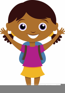 Clipart of a girl going to school clip stock Girl Going To School Clipart | Free Images at Clker.com - vector ... clip stock