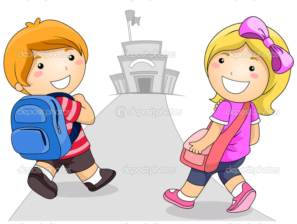 Clipart of a girl going to school jpg transparent stock 34+ Going To School Clipart | ClipartLook jpg transparent stock