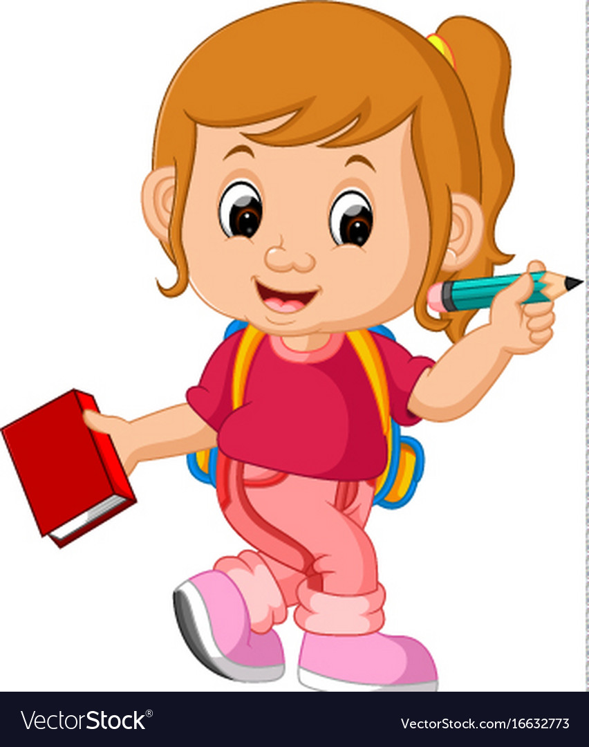 Clipart of a girl going to school graphic royalty free stock Girl go to school clipart 1 » Clipart Station graphic royalty free stock