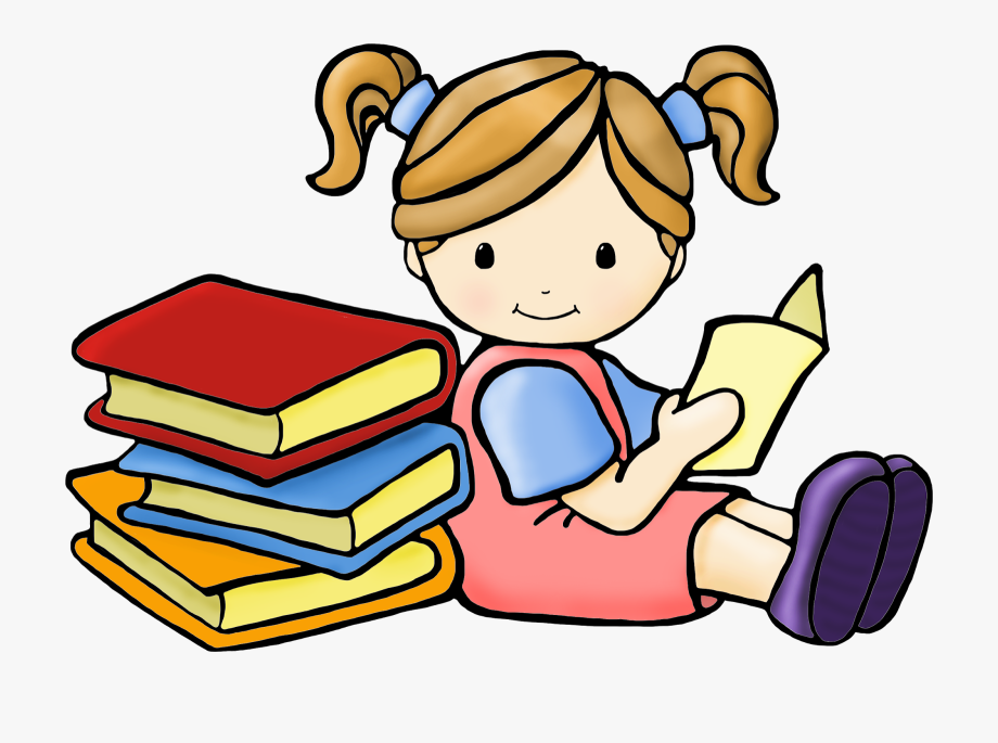 Reading girl clipart image library download Reading Clipart Free Images - Girl Reading Book Clipart #76023 ... image library download