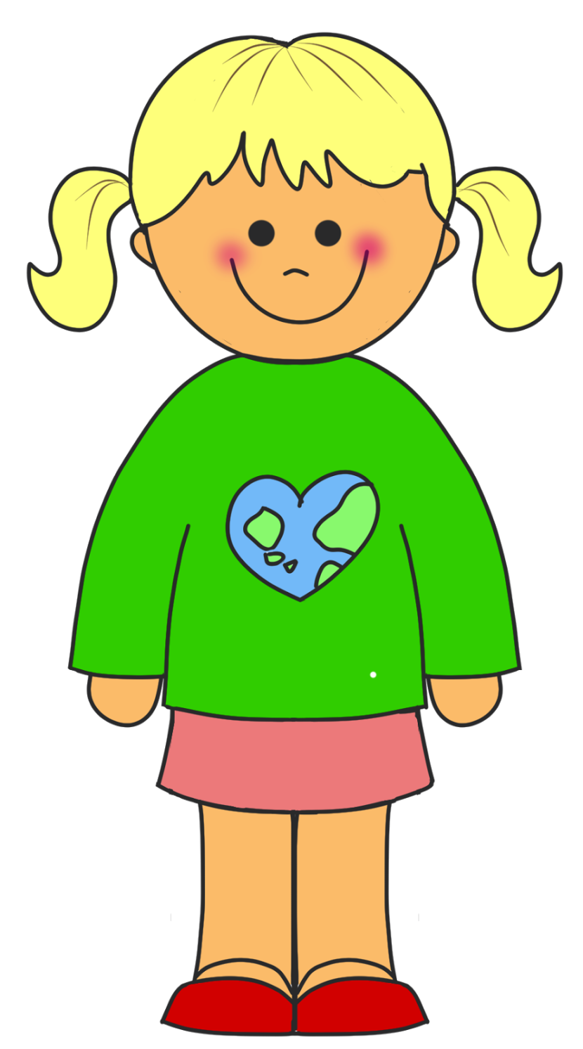 Clipart of a girl standing vector free stock Free Girl Standing Clipart Pictures - Clipartix vector free stock