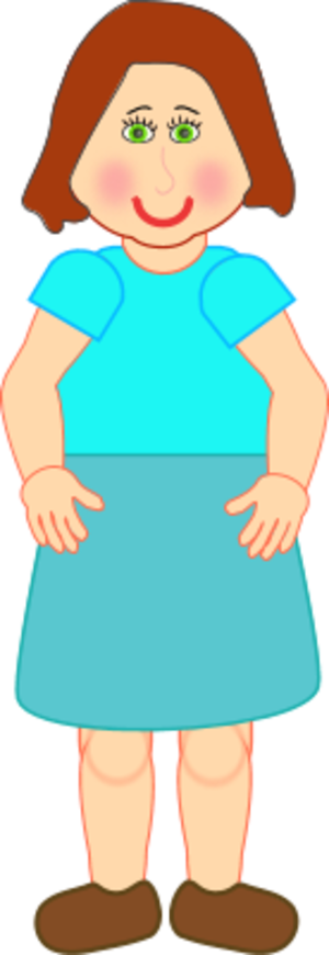 Clipart of a girl standing picture library girl standing wearing a skirt   Clipart Panda - Free Clipart Images picture library