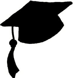 Clipart of a graduation hat clip art black and white library Pinterest clip art black and white library