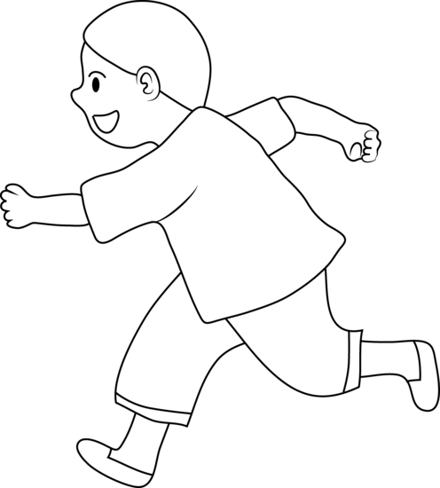 Little children black and white clipart free picture freeuse download Free Boy Running Clipart Black And White, Download Free Clip Art ... picture freeuse download