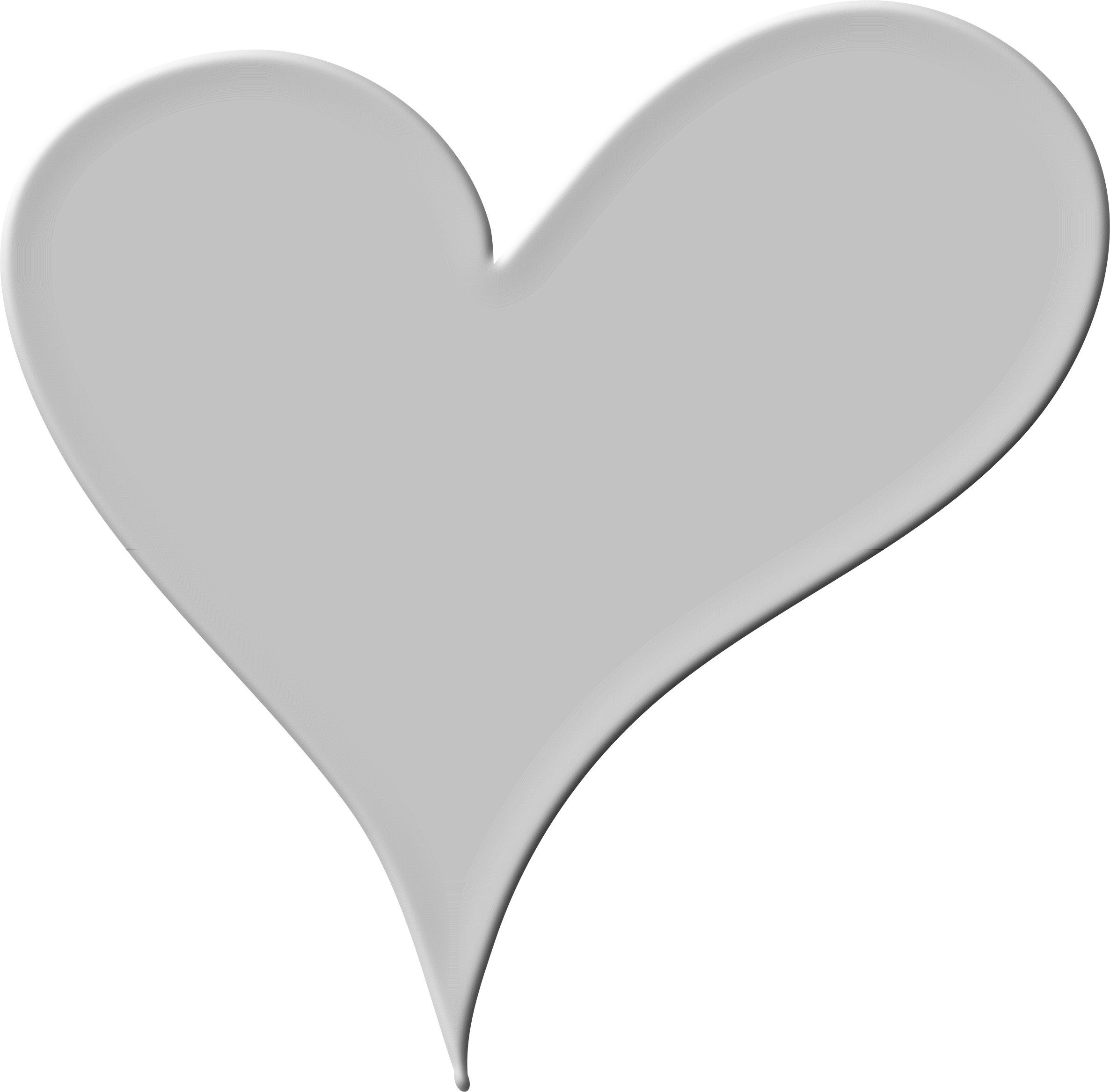 Gray heart clipart clipart transparent stock Clipart - Heart in White clipart transparent stock