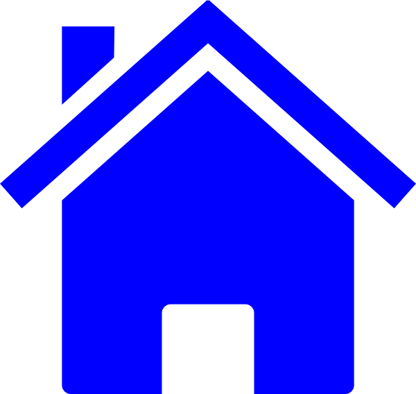 Paint brush and house clipart png library stock Simple Blue House Clip Art at Clker.com - vector clip art online ... png library stock